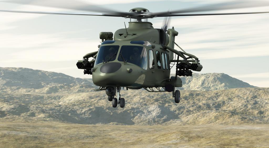 AgustaWestland AW149. Prepravná kapacita: 18 vojakov, 2720 kg. Dolet: 920 km. Maximálna rýchlosť: 310 km/h
