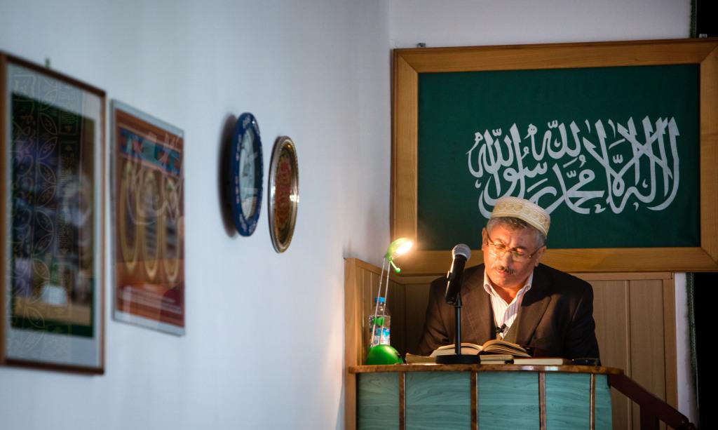 Čítanie z Koránu. Foto N - Tomáš Benedikovič