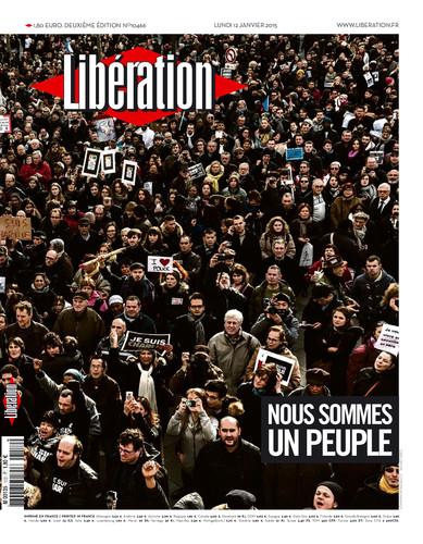 Obálka denníka Libération. REPROFOTO N