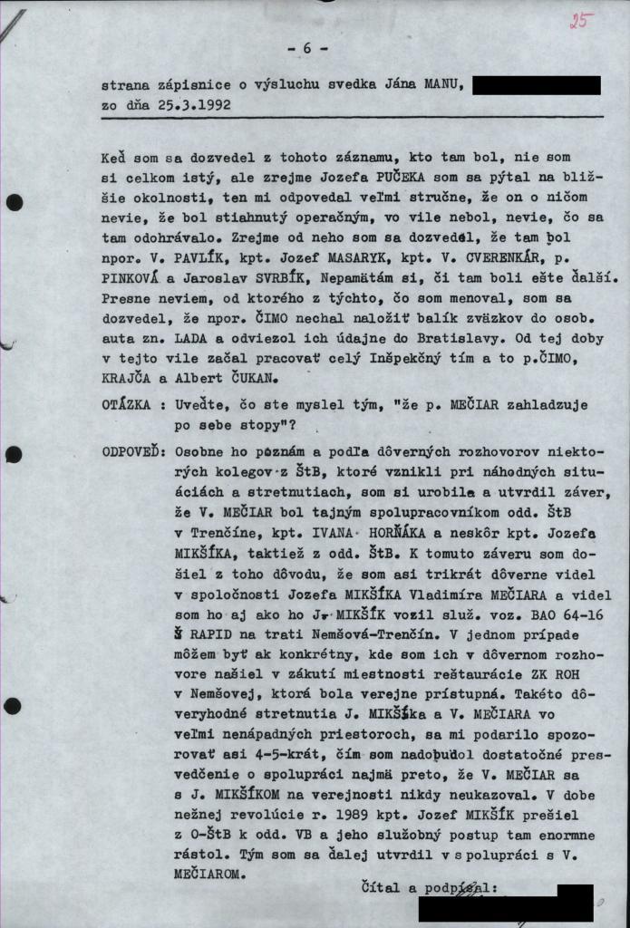 Z výpovede Jána Patrinčáka. Foto - N
