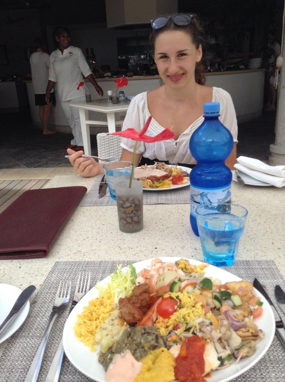 Seychelská večera v hoteli
