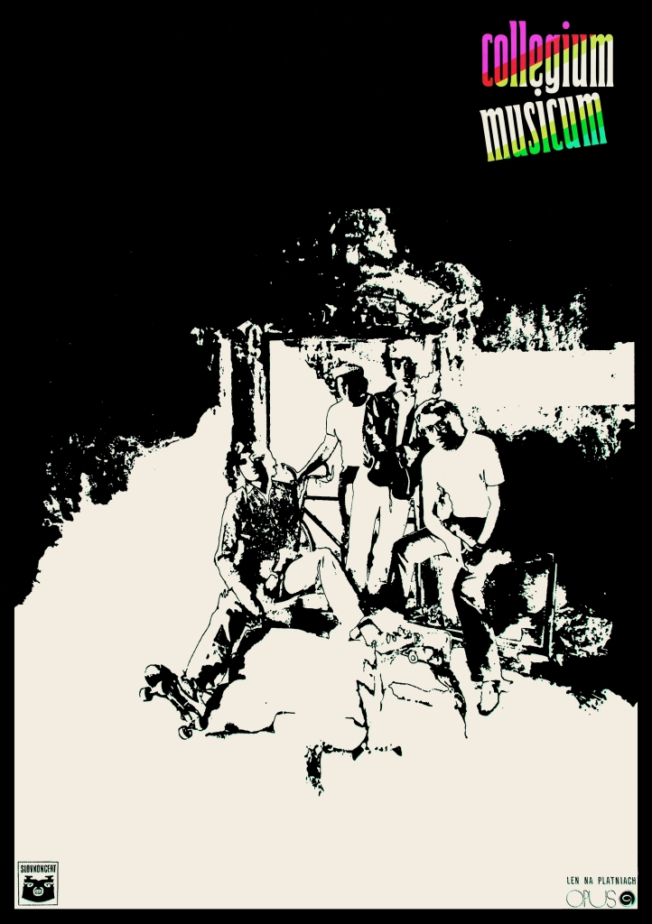 Collegium Musicum, hudobné plagáty, 1971, klient: Slovkoncert, ofset. FOTO - ĽUBOMÍR LONGAUER