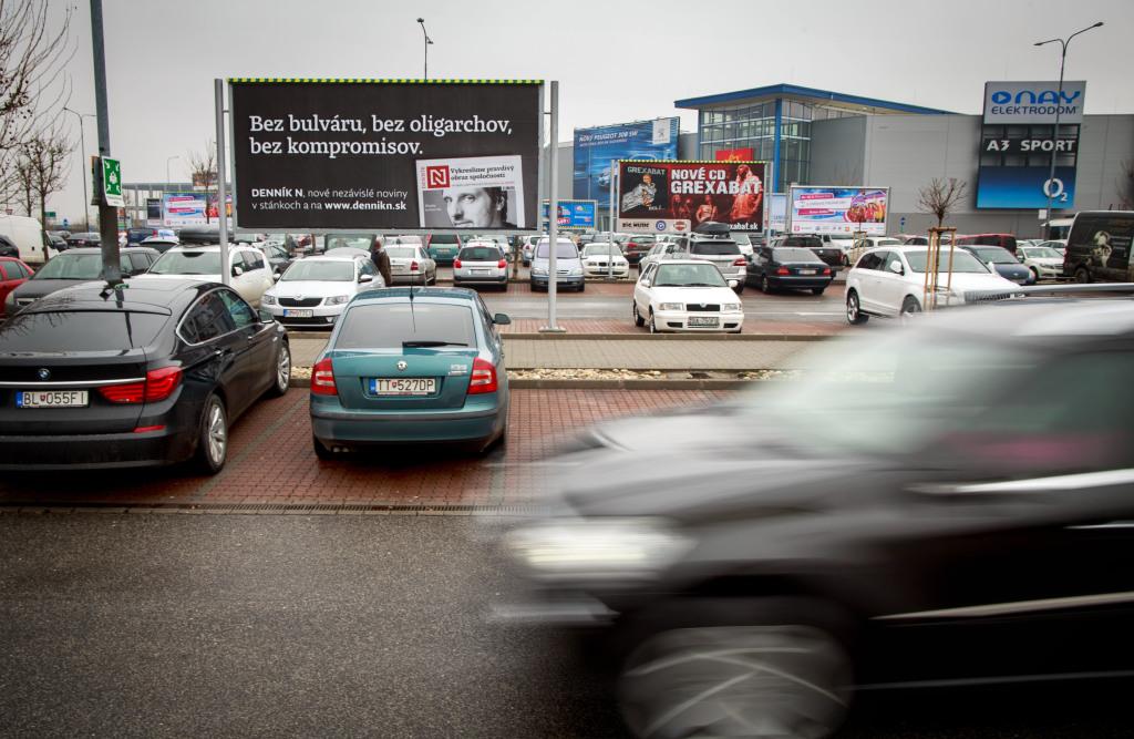 Blízkosť obchodného domu IKEA  rozširuje možnosti na parkovanie v Avione. Foto N - Tomáš Benedikovič