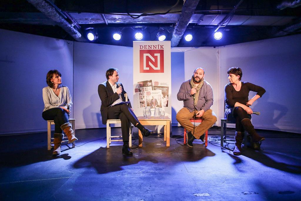 Debata Denníka N v KC Dunaj. Foto N - Tomáš Benedikovič