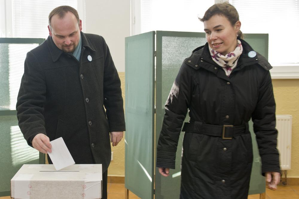 Anton Chromík s manželkou Beatou. Foto - TASR