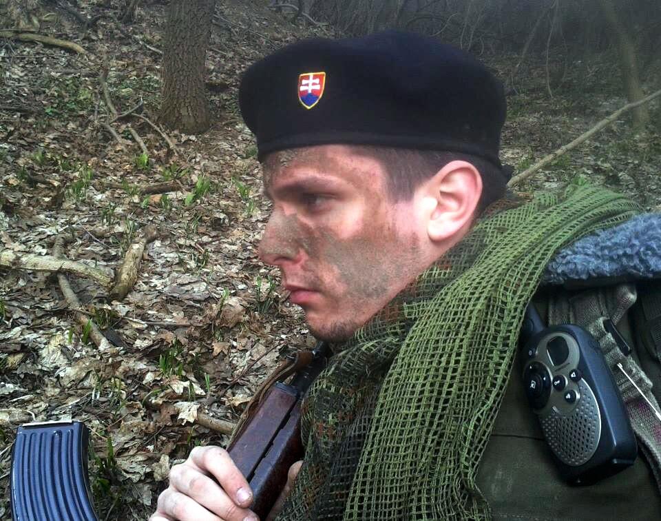 "Martin Keprta ešte ako ""slovenský branec"". Foto – Facebook Martina Keprtu"