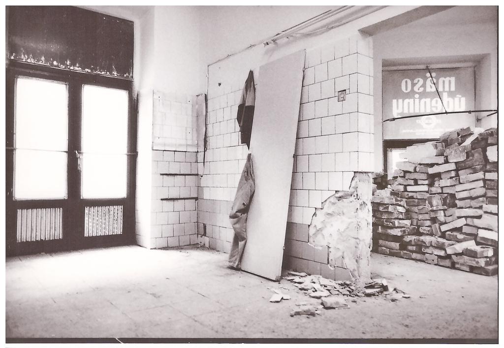 Úprava nových priestorov na Kozej ulici, 1992.