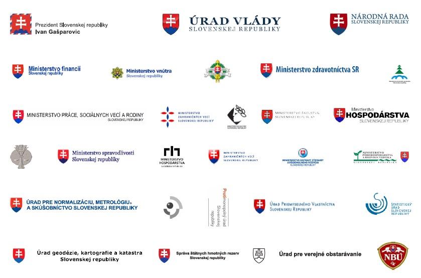 Takto vyzerajú logá ministerstiev a štátnych úradov dnes. Zdroj - Juraj Blaško
