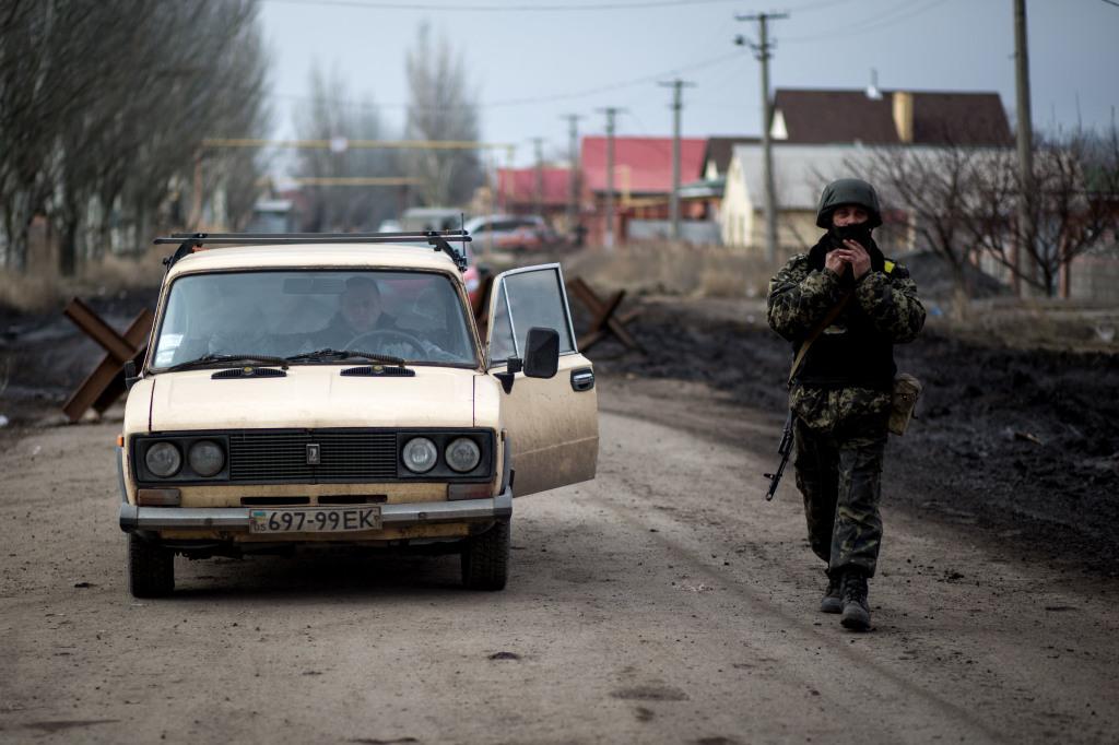Na východnej Ukrajine je v súčasnosti situácia, ktorá sa označuje ako zamrznutý konflikt. Vláda v Kyjeve nemá pod kontrolou časť svojho územia, s čím sa nechce zmieriť. Foto N – Vladimír Šimíček