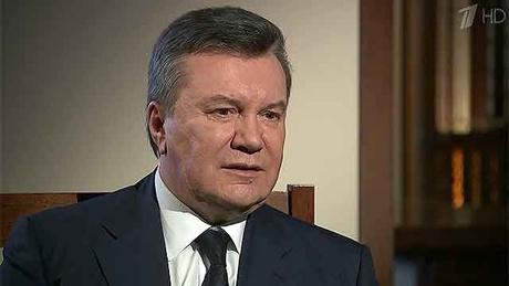 Viktor Janukovyč v ruskej televízii. Foto - Kyiv Post/1tv.ru