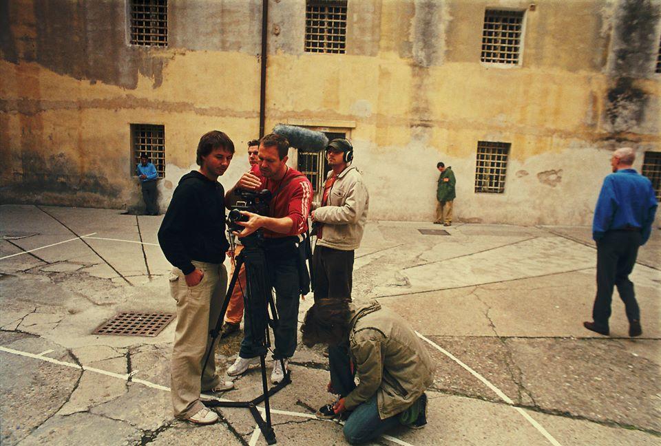 Miro Remo s tímom pri nakrúcaní filmu Comeback.