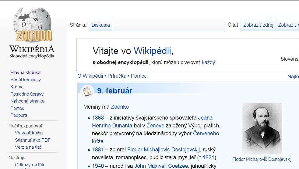 Slovenská Wikipédia sa chváli 200-tisíc článkami. Reprofoto - Denník N