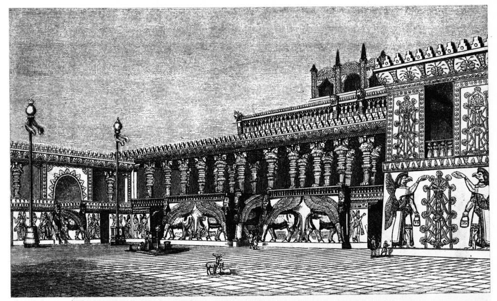 Khorsabad_palace_courtyard_reconstruction
