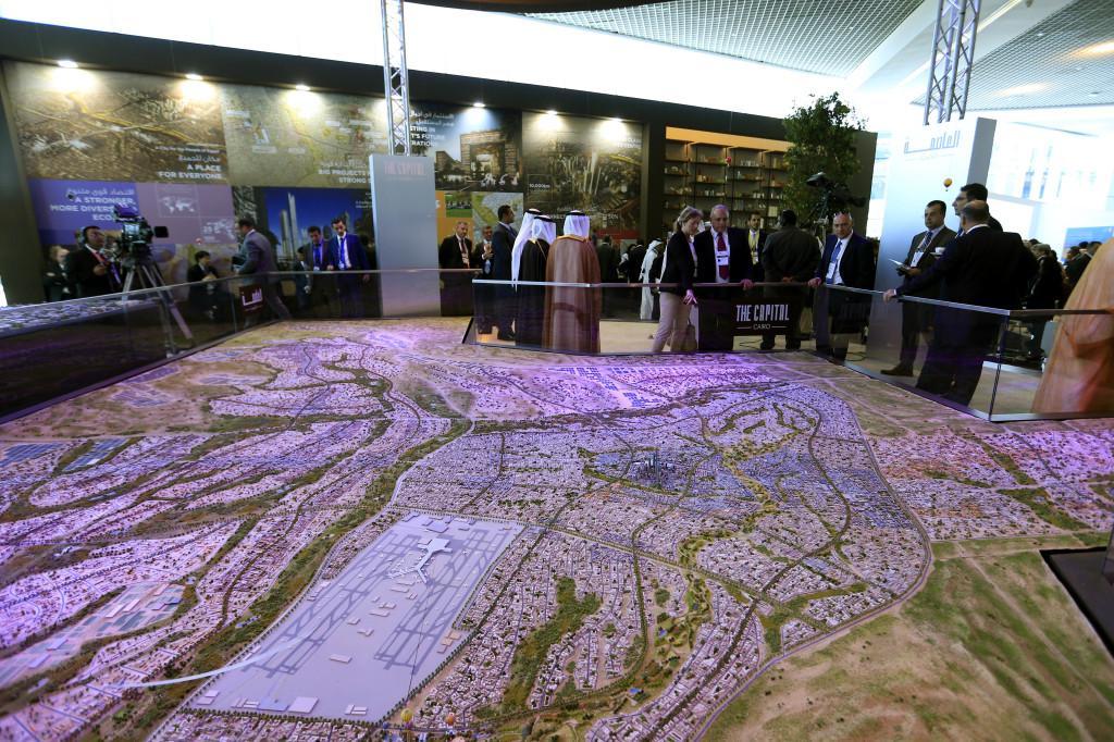 Model nového hlavného mesta. Foto - AP