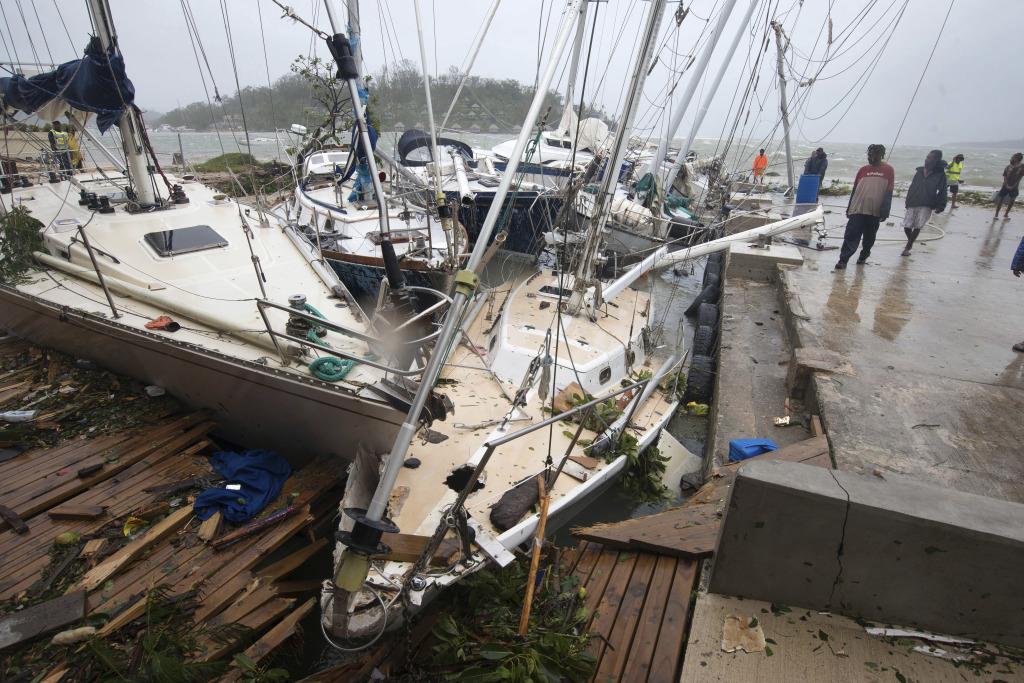 Vanuatuské ostrovy zasiahol cyklón. Foto - TASR/AP