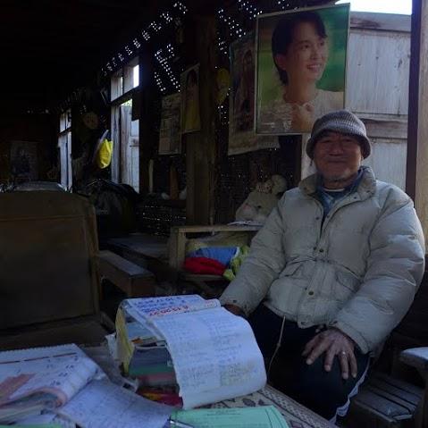 U Tin Zaw je stále rovnako presvedčený, že ľudia budú voliť Su Ťij. FOTO - AUTORKA