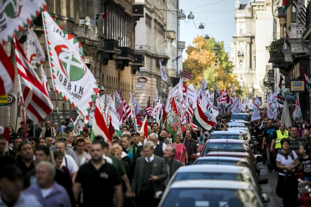 Jobbik sa drží pevne pozície druhej najsilnejšej strany. FOTO - TASR