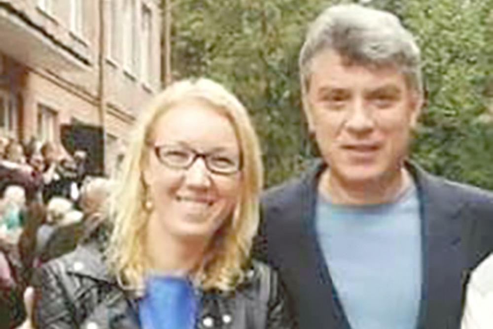 Marina Potechina a Boris Nemcov. Foto - Archív M. P.
