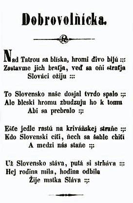 Zápis textu dnešnej slovenskej hymny z roku 1851 bol  bez ypsilonov.