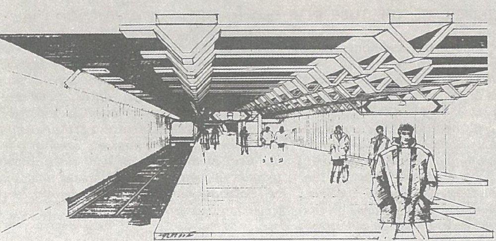 Takto mala podľa jedného z variantov vyzerať stanica Dunaj. Foto - Archív P. Martinka