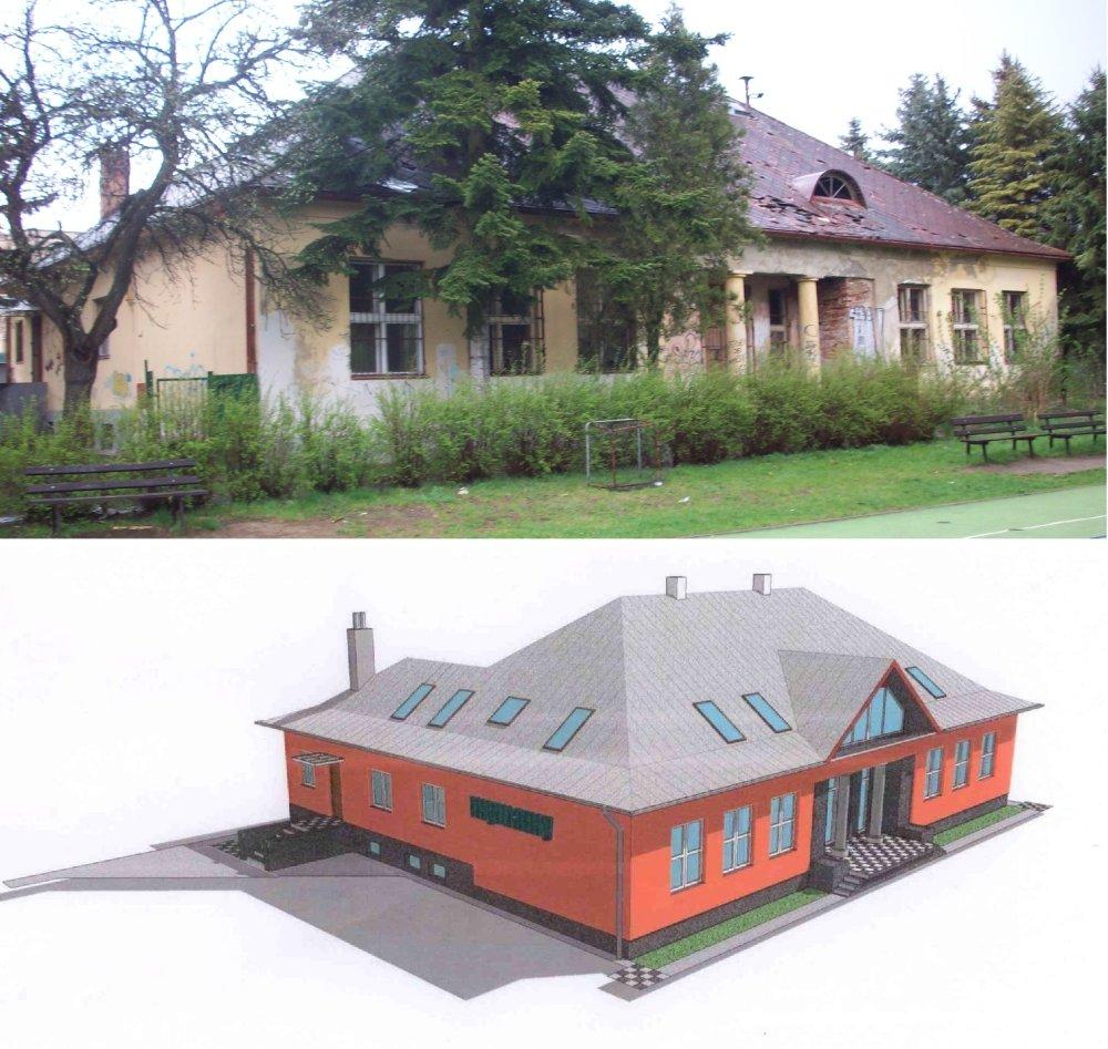 Návrh rekonštrukcie budovy.