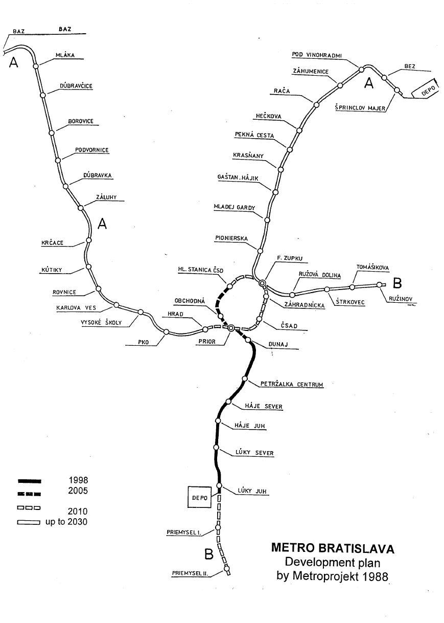 V roku 1988 sa začalo s výstavbou prvej z celkovo dvoch liniek metra. Podľa vtedajších plánov malo merať 42 kilometrov. Foto - Archív P. Martinka