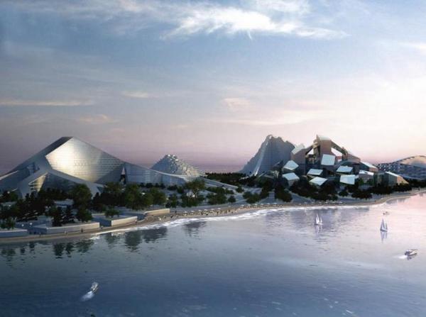 Projekt Zira Island v Azerbajdžane.