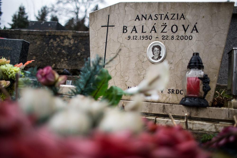 Hrob Anastázie Balážovej.