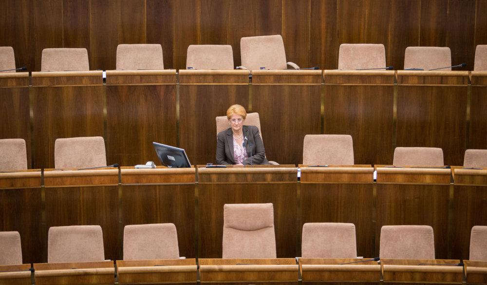 Poslancov v pléne veľa nie je. Foto N - Tomáš Benedikovič