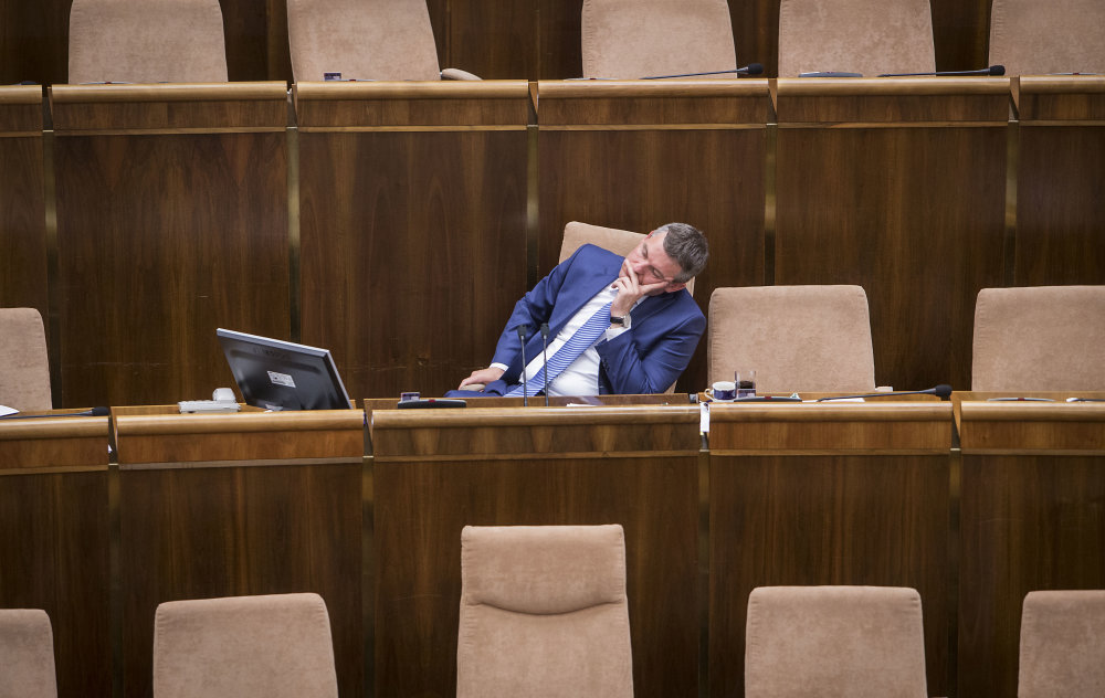 Unavený Peter Pellegrini. Foto N - Tomáš Benedikovič