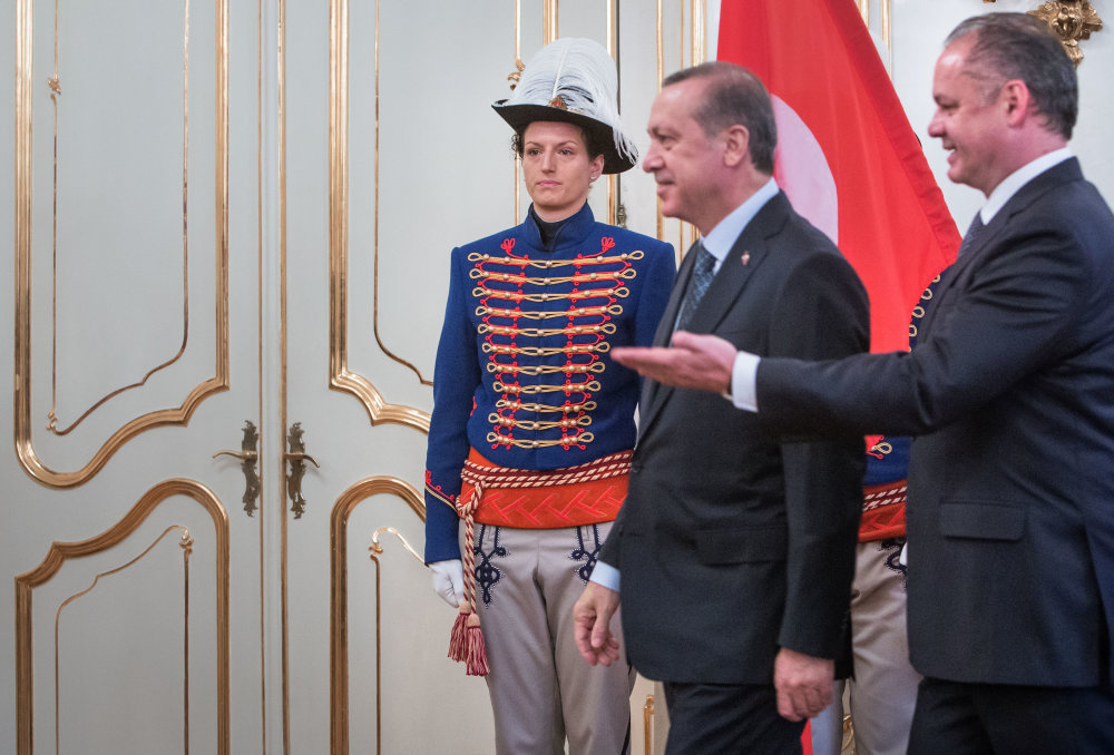 Turecký prezident Recep Tayyip Erdogan v Bratislave. Foto N - Tomáš Benedikovič