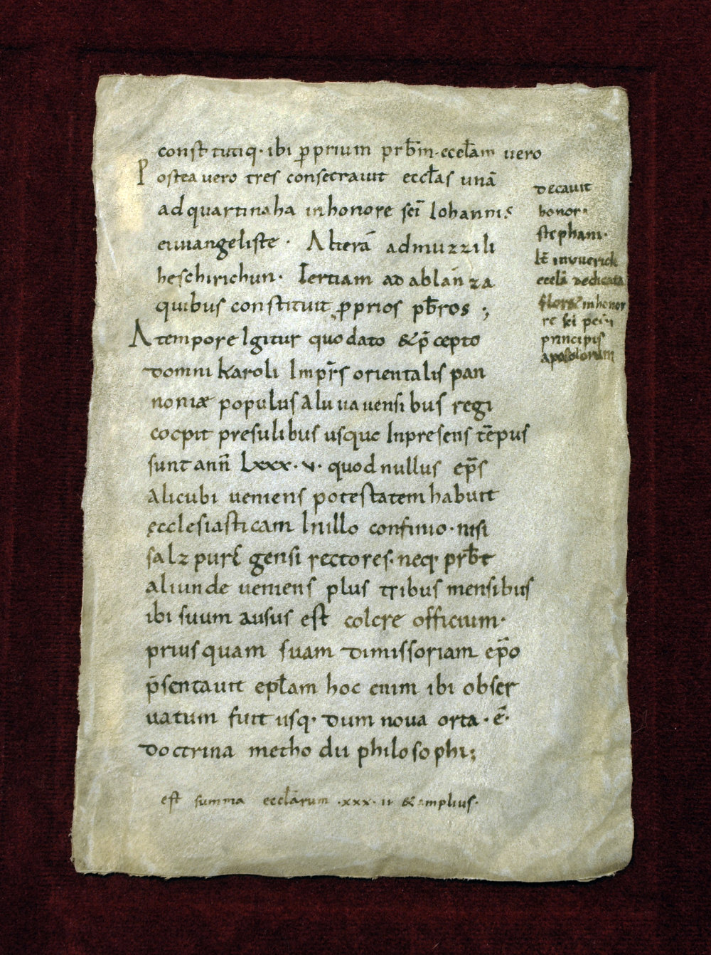 Spis vypracovaný franskými mníchmi v 9. storočí, spomína aj Pribinu. Foto - Archeologické múzeum Bratislava, SNM