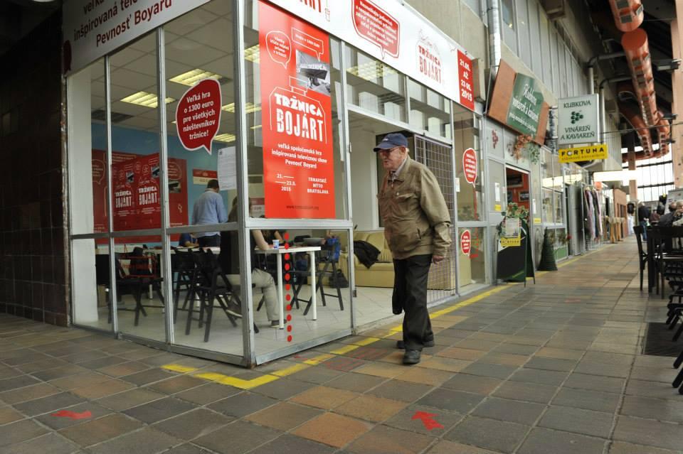 Tržnica Bojárt mala v tržnici aj malú centrálu, kde sa dalo o celej súťaži dozvedieť viac. Foto - Martin Hlavica