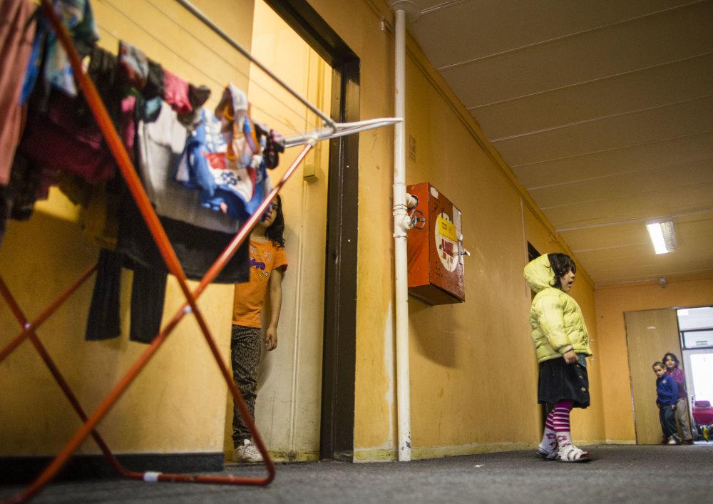V ružinovskej súkromnej ubytovni pre sociálne slabších bývalo dievčatko, ktoré v pondelok zomrelo na meningitídu. Foto N - Tomáš Benedikovič
