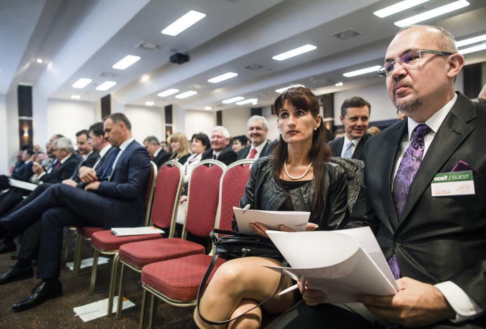 Právnička Zuzana Kupcová na pracovnom sneme strany Smer. Foto N - Tomáš Benedikovič
