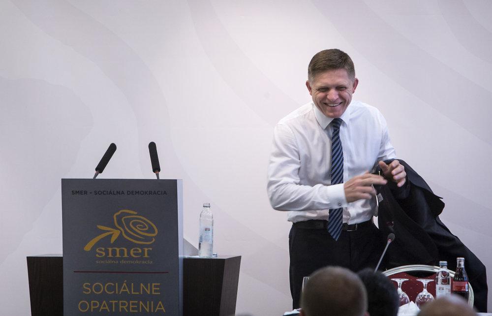 Predseda Robert Fico počas pracovného snemu strany Smer. Foto N - Tomáš Benedikovič