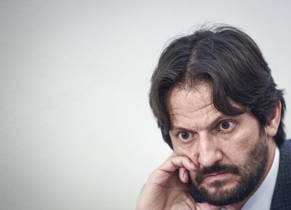 Robert Kaliňák počas tlačovej besedy po pracovnom sneme strany Smer. Foto N - Tomáš Benedikovič