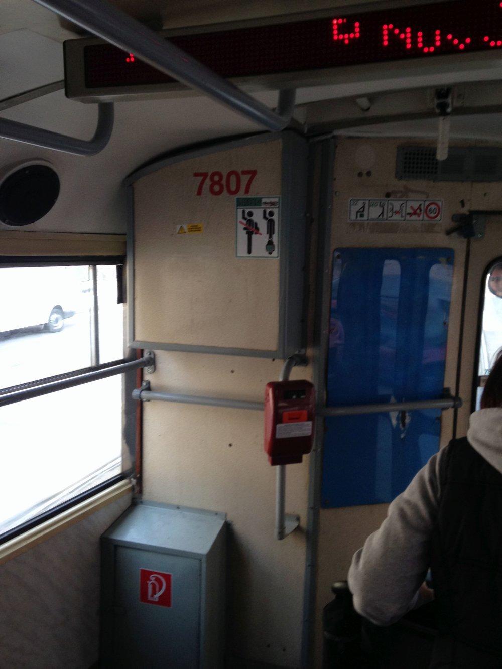 Katarína Podstrelencová si odfotila kabínu vodiča, ktorý sa podľa nej nesprával slušne.