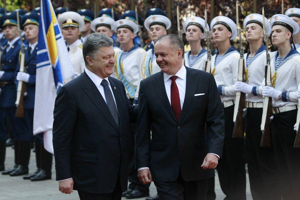 S ukrajinským prezidentom Petrom Porošenkom. Foto - AP