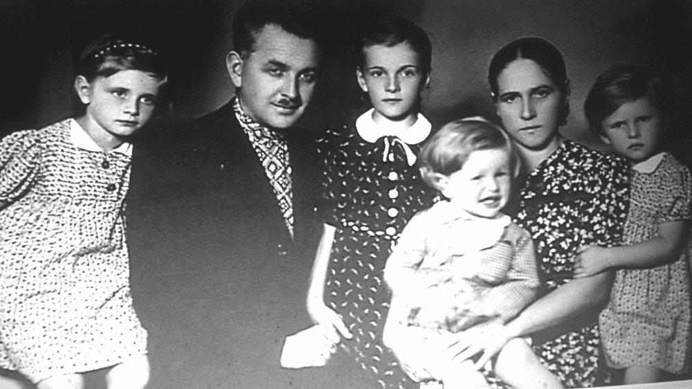 Stanislav Hlubocký s rodinou.