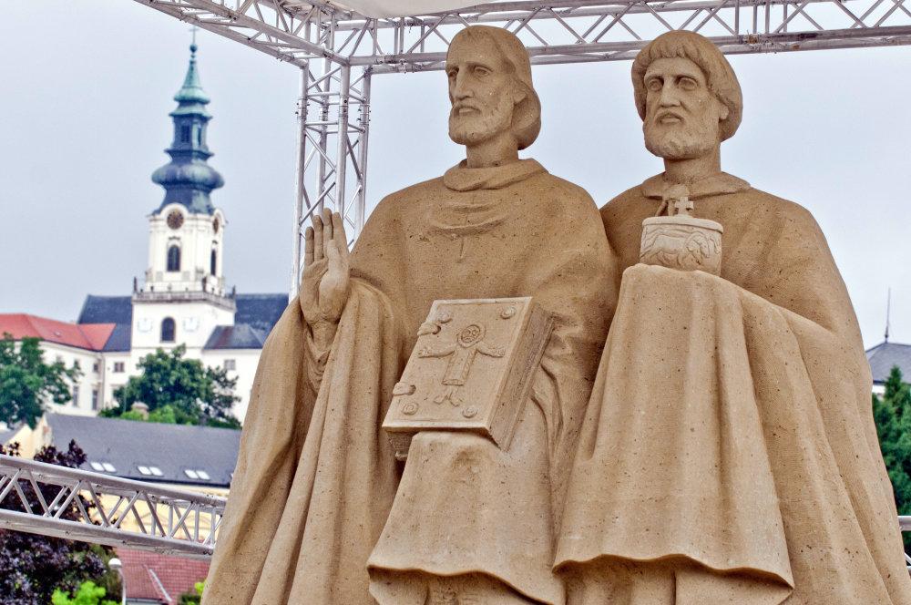 Cyril a Metod v Nitre. Foto - TASR