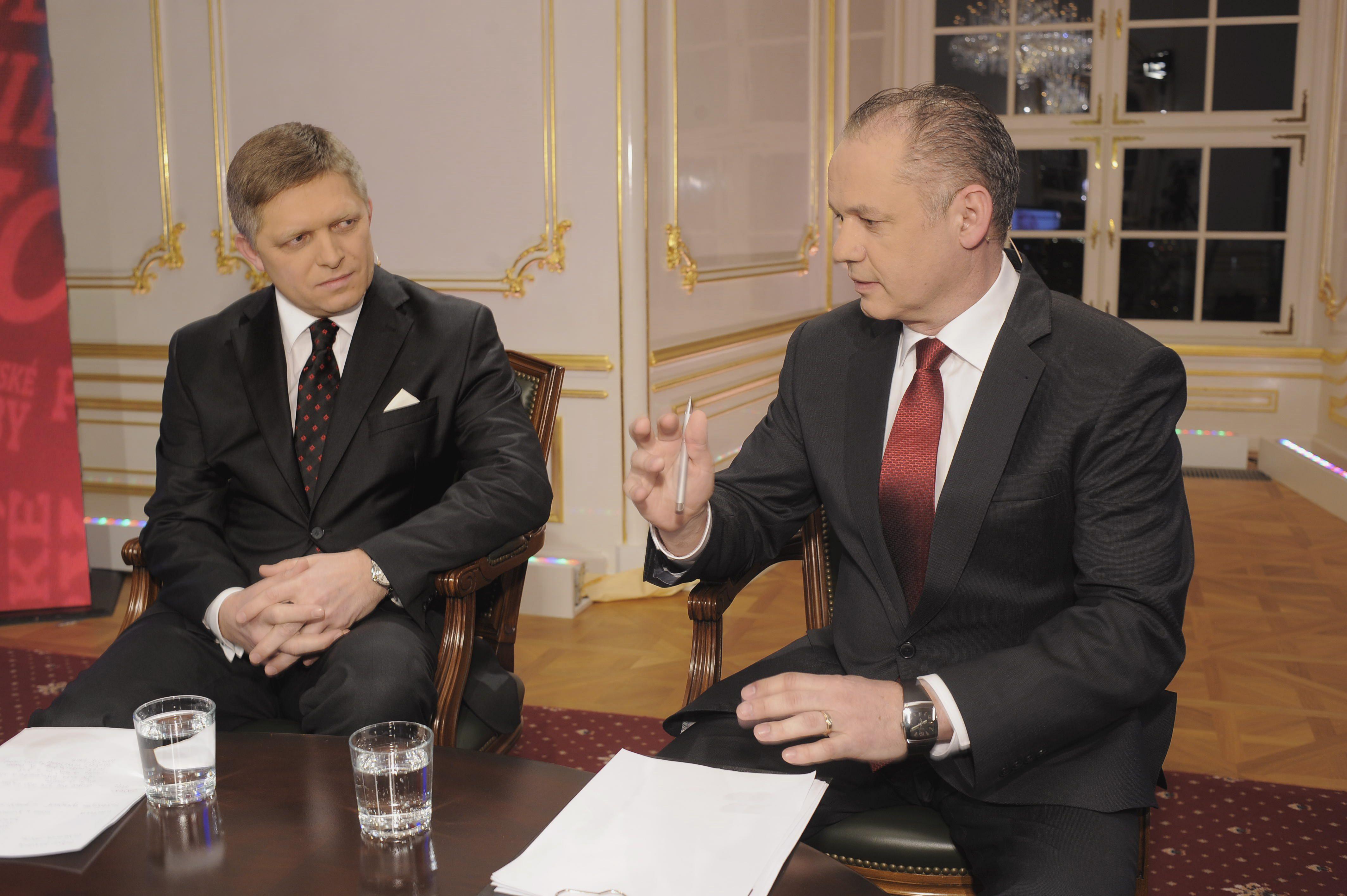 Fico a Kiska ešte ako prezidentskí kanditáti. Foto – TASR