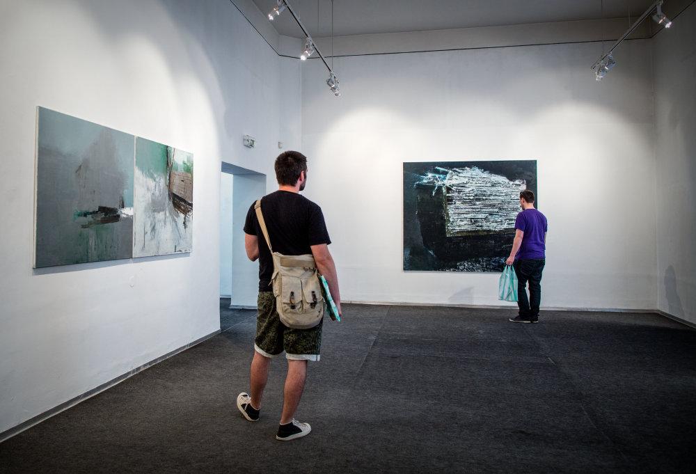 Výstava obrazov Rasťa Podobu v Stredoslovenskej galérii v Banskej Bystrici. Foto N - Tomáš Benedikovič