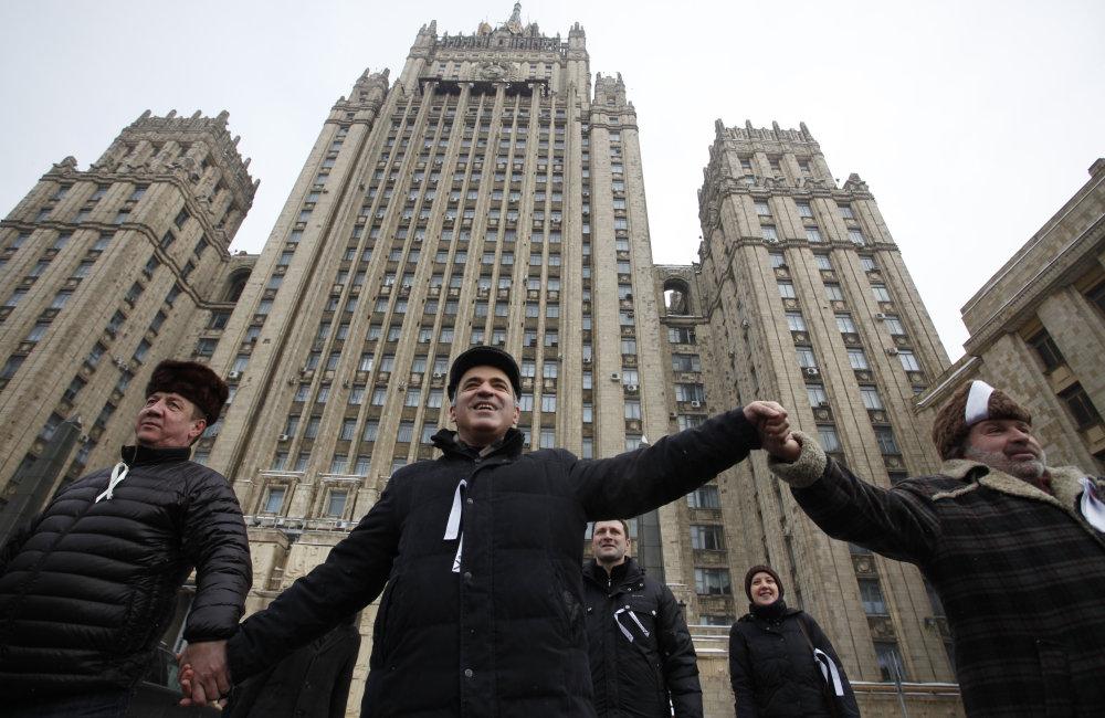Kasparov v roku 2012 na proteste proti kandidatúre Vladimira Putina za ruského prezidenta. FOTO - TASR