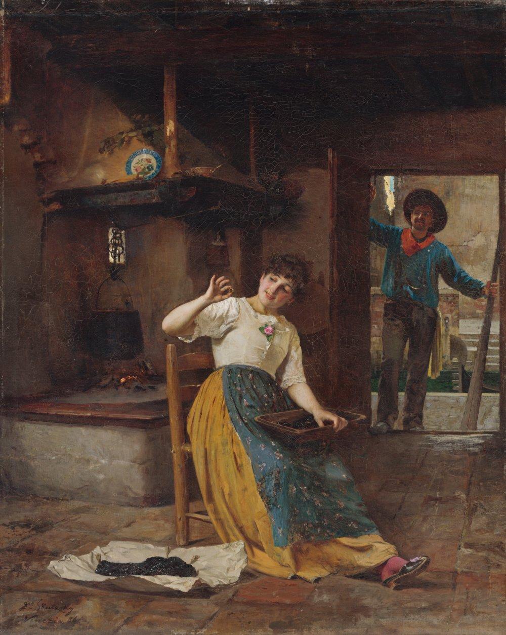 Dominik Skutecký: Prsteň milého, 1886. SNG. Web umenia.