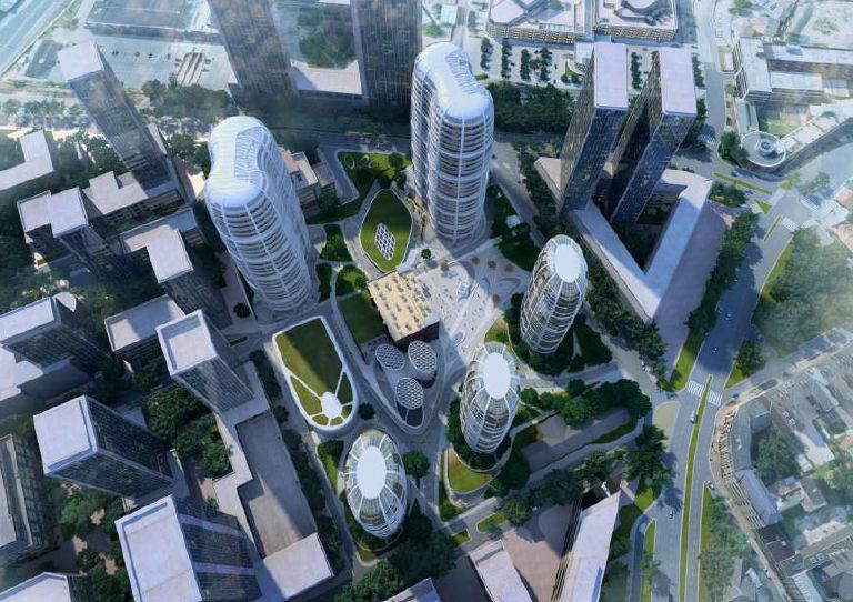 Projekt Čulenova z dielne Zaha Hadid Architects. Vizualizácia - Penta Investments