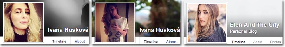 Ivana Husková najprv vystupovala pod fotkou jednej ženy, od 21. mája používa fotku talianskej fashion blogerky Elen And The City.