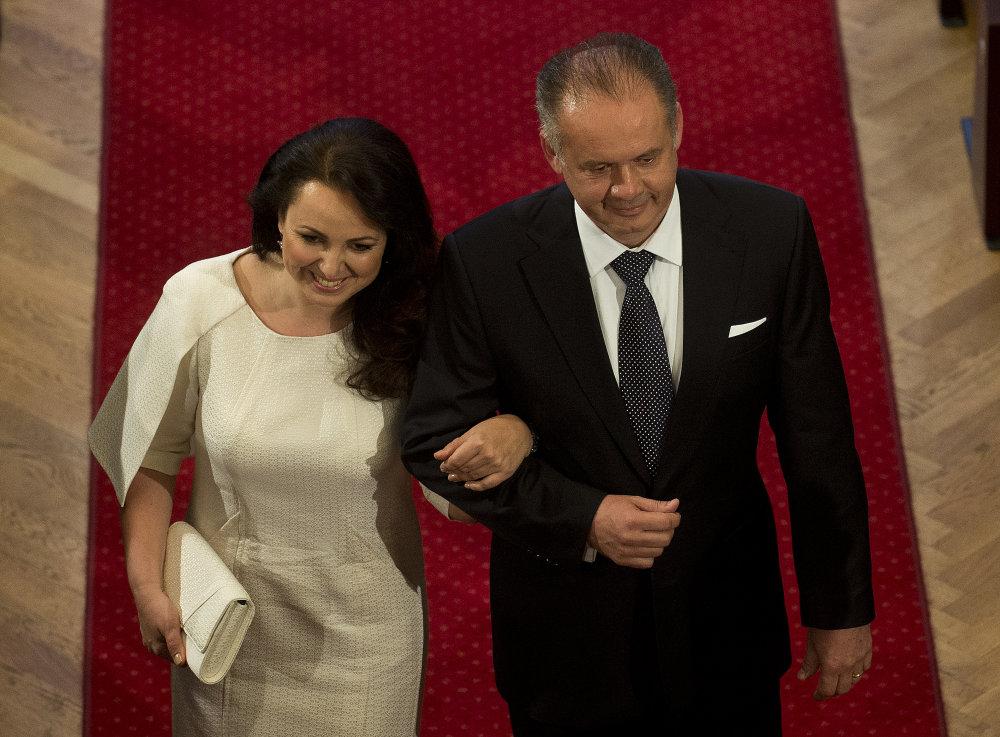 Inaugurácia bola jedným z mála momentov, kedy sa s Kiskom ukázala aj prvá dáma. Foto - TASR