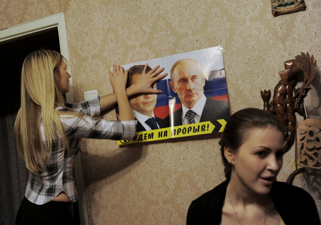 Ruský prezident Putin je v Podnestersku populárny. Miestnym dáva lacný plyn, pasy aj dôchodky. FOTO - TASR/AP
