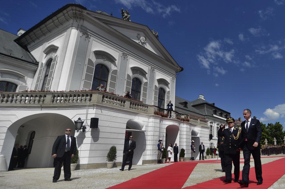 Prvýkrát v paláci. Foto – TASR